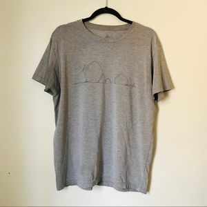 Prana Men's Grey Graphic Breathe T-Shirt Size L